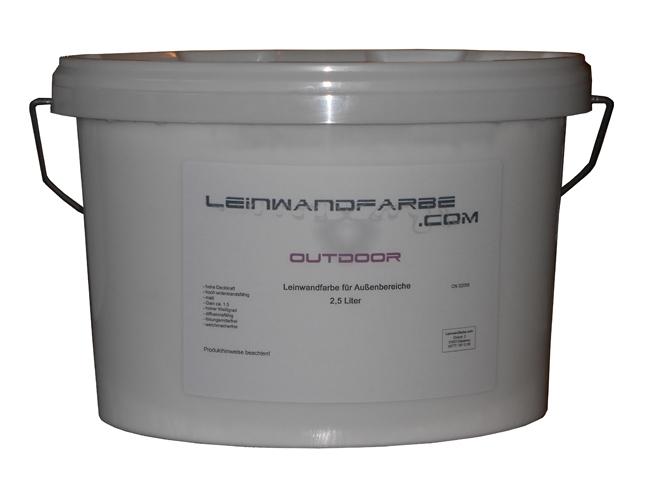 Outdoor Screen Paint, 2,5l White